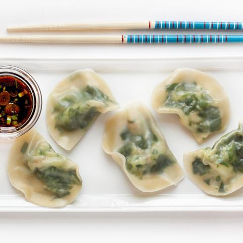 spinach-shrimp-wontons