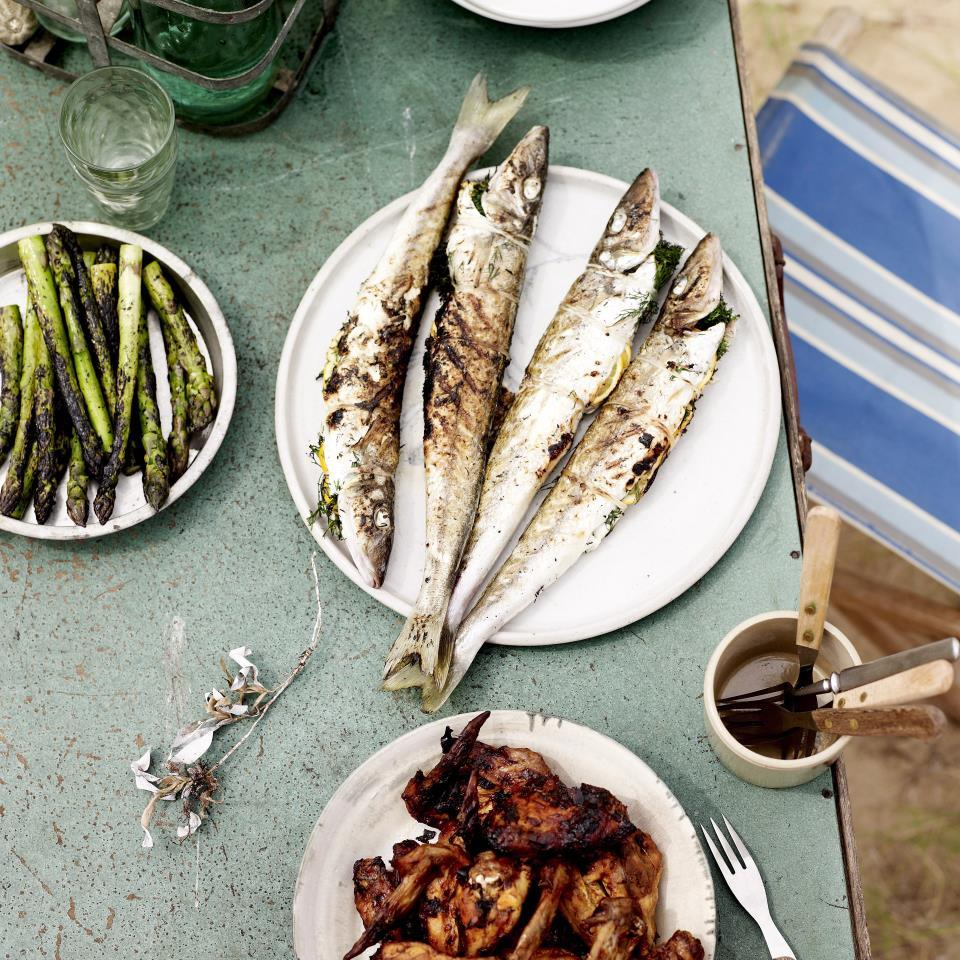 summer, grilling, cooking, outdoor, recipes, fish, vegetables,