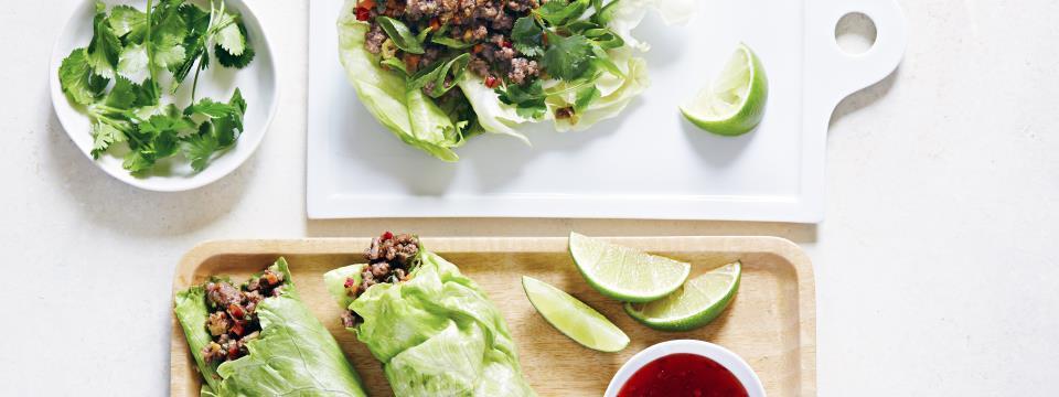 asian lettuce bowls dinner recipe