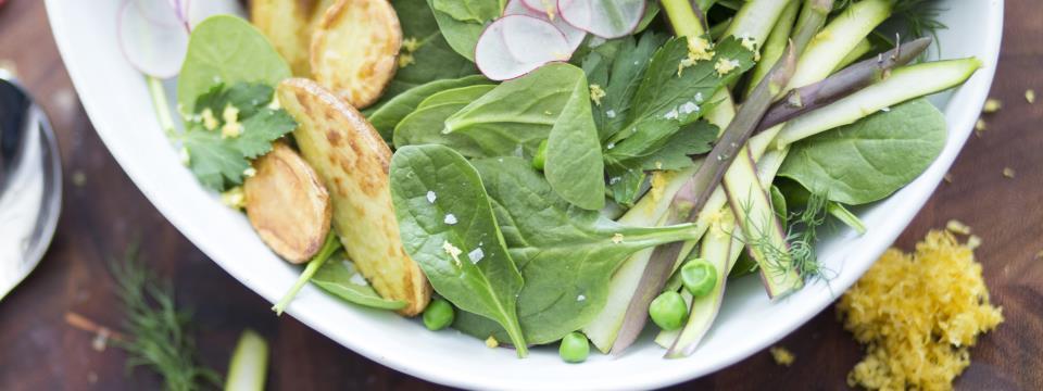 vegan spring salad