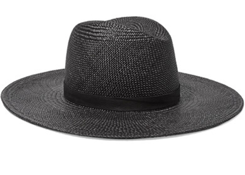 JANESSA LEONE, Lynn leather-trimmed straw Panama hat