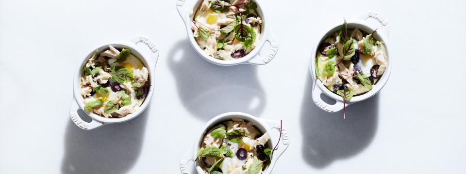 tuna, baked, recipe, eggs, Tuna and Olive Baked Eggs