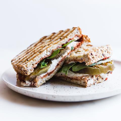 healthy recipe, eggplant panini
