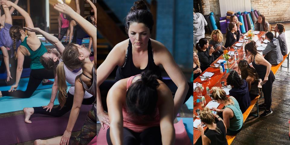 yoga, brunch, fitness trend, yoga brunch club,