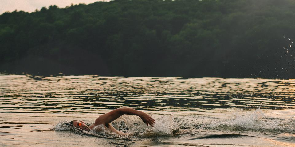 open water swimming, swim, video