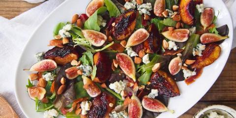 blasamic peach salad
