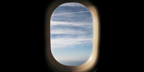 airplane, window, sick,