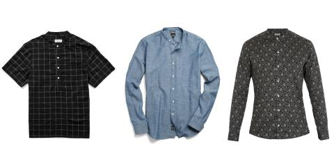 banded collar shirts
