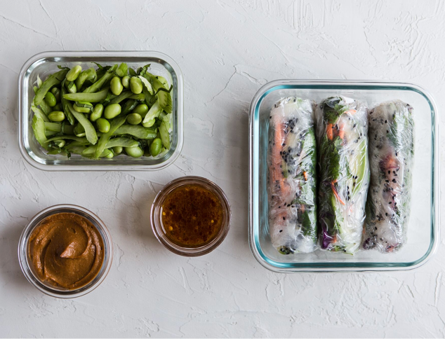 SUMMER ROLL WITH NO-COOK PEANUT SAUCE
