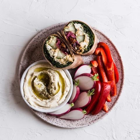 Mediterranean Tortilla Wrap, modern proper, recipes, ,meal prep