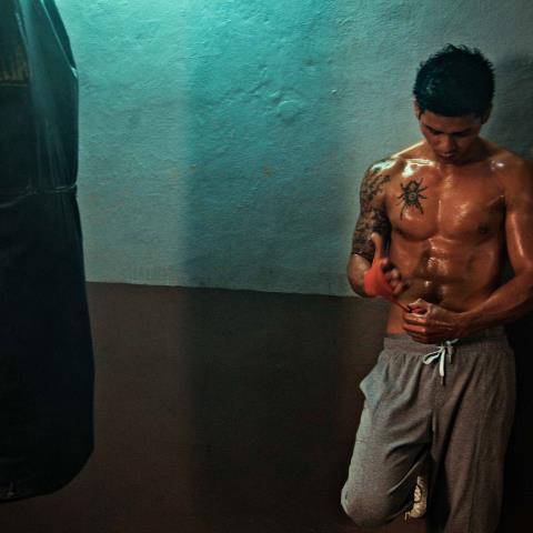 tattoos, sweat,