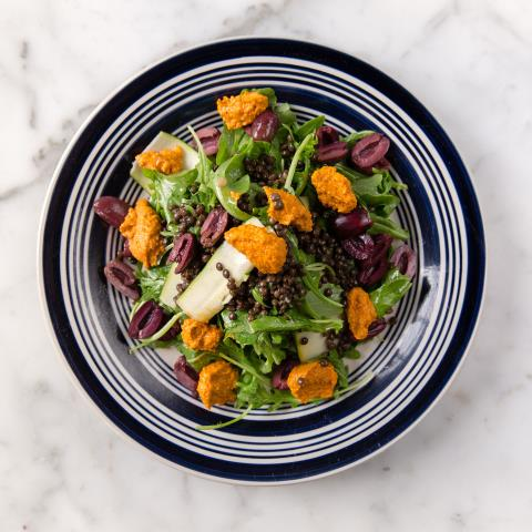 lentil, arugula, salad, chef steps, recipe, meal prep