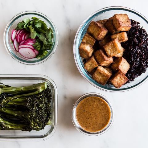 modern proper, tofu, crispy, bowl, meal prep