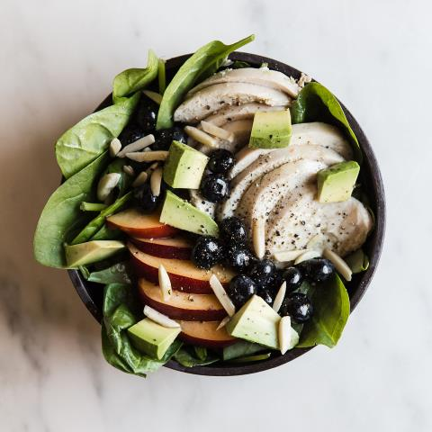 summer, chicken, salad, recipe, modern proper, meal prep