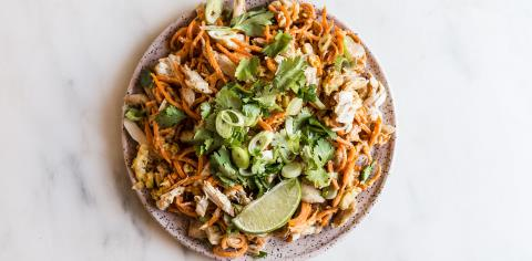 zoodle, chicken, pad thai, meal prep, modern proper, recipe
