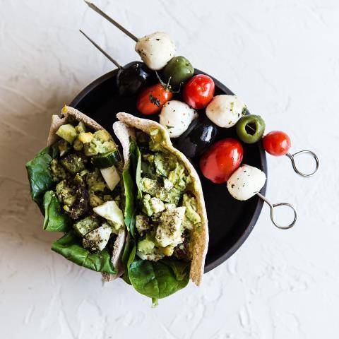 meal prep, modern proper, avocado egg salad