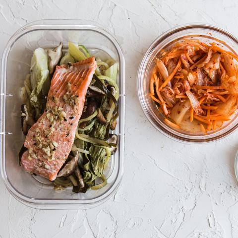 ginger, garlic, salmon, meal prep, modern proper