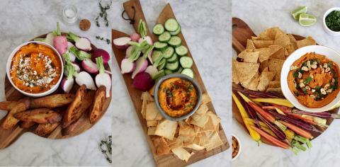 fall, dips, recipes, squash, vegetables, sweet potatoes, hummus,
