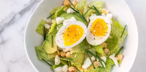 chopped, salad, romaine, lettuce, lunch, recipe, meal prep,