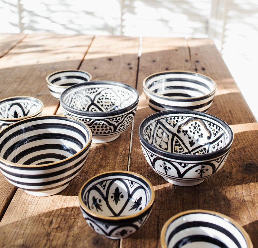 bowls, Morocco, ceramic, hand-painted