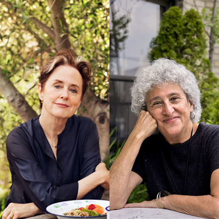 Marion Nestle and Alice Waters