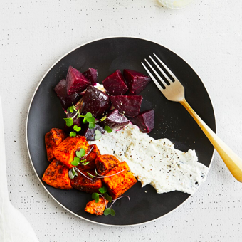 LABNEH SWEET POTATOES