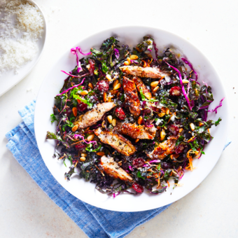 CURLY SPRING KALE SALAD