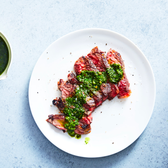 SEARED STEAK WITH CHIMICHURRI