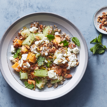 Melon and Feta Bulgur Salad