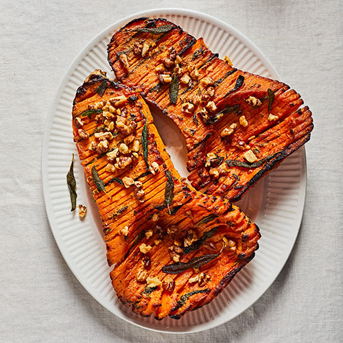 hasselback-squash-with-pecans-and-sage