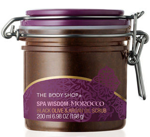 The Body Shop Spa Wisdom Morocco Black Olive & Argan Oil Scrub