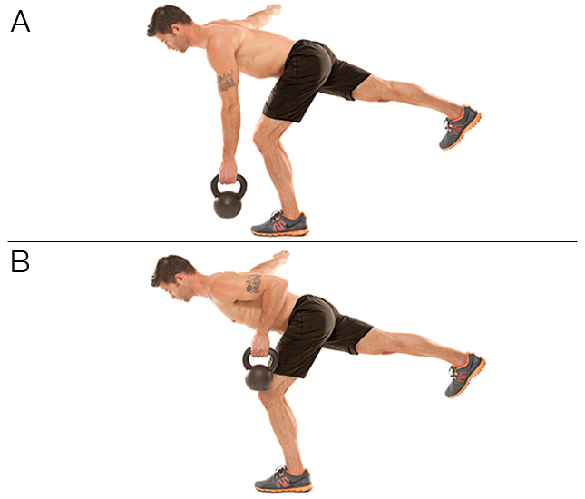 Single-Leg Kettlebell Row Balance
