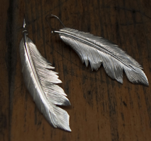 Manon von Gerkan silver feather earrings