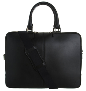 Le Want Vie Essential Trudeau Black Leather Briefcase
