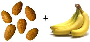 almonds, bananna
