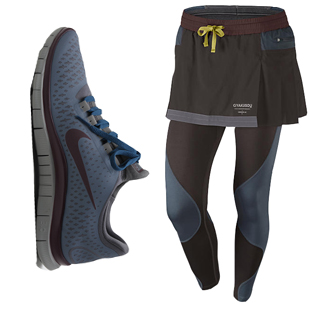 Nike Gyakusou leggings and sneakers