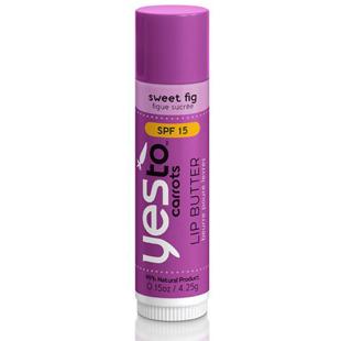 lip gloss, makeup, beauty, organic makeup, healthy makeup, Yes To Carrots Sweet Fig Lip Butter, sunscreen lip balm