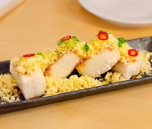 Danji's Tofu with Ginger Scallion Dressing