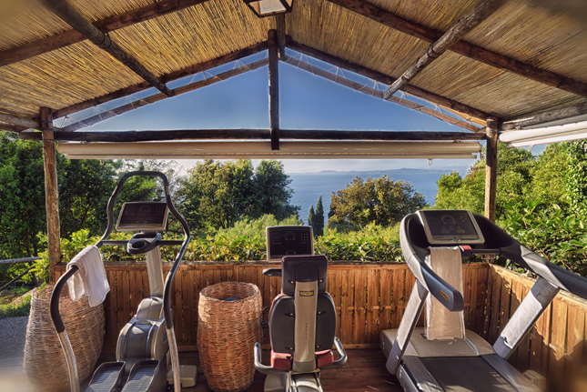 Q by Equinox, Gyms with a view, luxurious gyms, workout, fitness, body, health, travel, destinations, hotel caesar augustus, capri