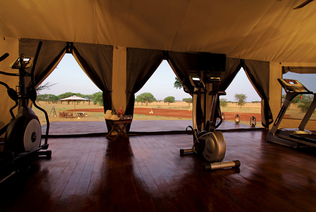 Q by Equinox, Gyms with a view, luxurious gyms, workout, fitness, body, health, travel, destinations,  grumeti, tanzania