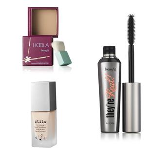 , beauty, skincare, skin, stila foundation, benefit mascara, hoola blush,