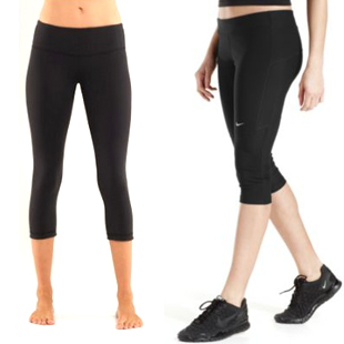 Lululemon, Nike, cropped, leggings, workout, gym clothes, gear, yoga , fitness, health, lifestyle
