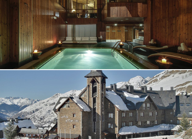hotel, travel, lifestyle, La Pleta, Spain, ski, resort, Bagueira-Beret, Pyrenees, hydrotherapy, Jacuzzi, sushi, mountains, views