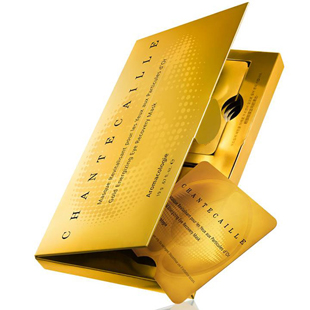 Chantecaille Eye Mask, Gold Energizing Eye Recovery Mask, refreshed, elimates dark circles, travel sized