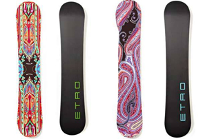 Designer, skis, Etro, limited-edition, snowboards, Italian, activity, fitness, health, exercise,