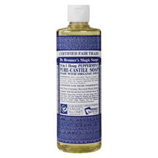Dr. Bronner's, Peppermint Body Wash, all-natural, , multi-purpose, body, skin, beauty, clean, wash, shower, health, fitness, workout, gym, exercise, Nicole Berrie