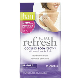 Ban's Refresh Cooling Body Cloths, clean, body, cloths, fitness, wellness, hygene, gym