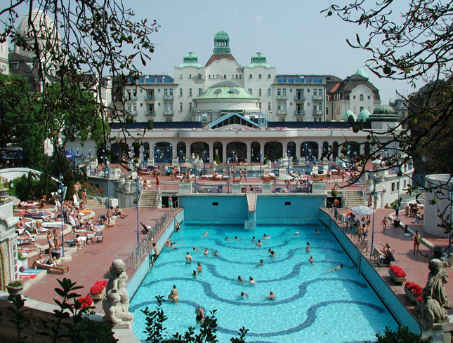 Budapest, Hungary, city, spas, massive pools, fluoride, metabolic acid, ulcer, gallbladder, calcium, issues, public, private, wellness, body, skin, travel, Q blog