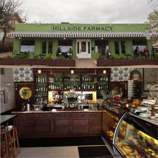 Hillside Farmacy, Austin, Texas, East Austin, East 11th Street, restaurant, grocery store, Hillside Drugstore, brunch, oysters,