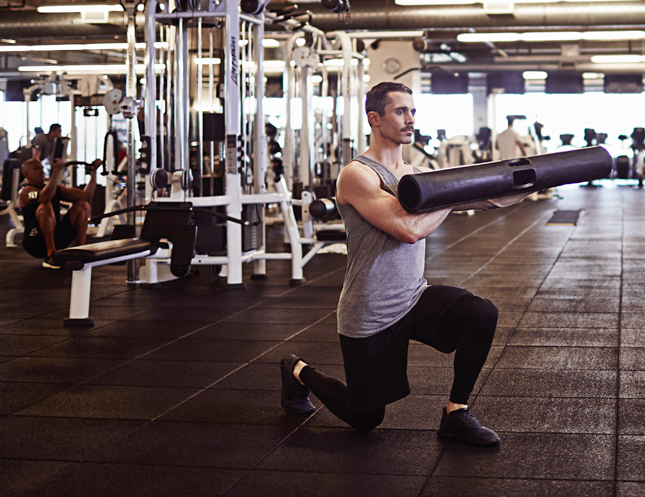 Scientifically-Proven Workout, UCLA, California, workout, fitness, health, exercise, gym, body, strength, Split Squat, ViPR, Shift